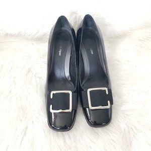 Etienne Aigner | Black Clara Leather High Heels